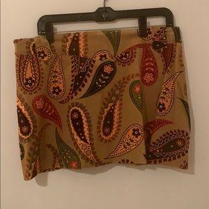 Zara corduroy mini skirt